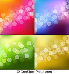 lumières, bokeh, fond couleur