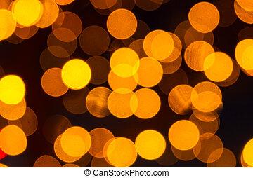 lumières, bokeh, vacances, arrière-plans