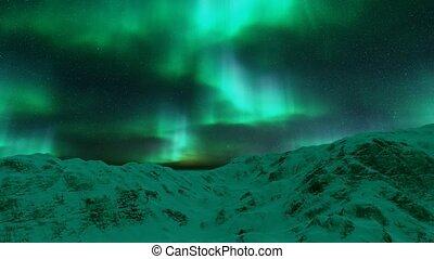 lumières, borealis), (aurora, nord, islande