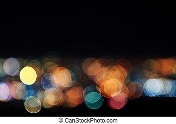 lumières, brouillé