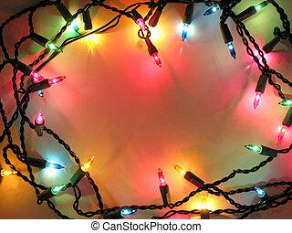 lumières, cadre, noël