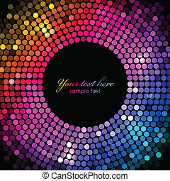 lumières, cadre, vecteur, coloré, disco