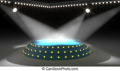 lumières, capable, boucle, gratuite, étape