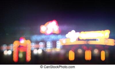 lumières, casino, boucle, nuit
