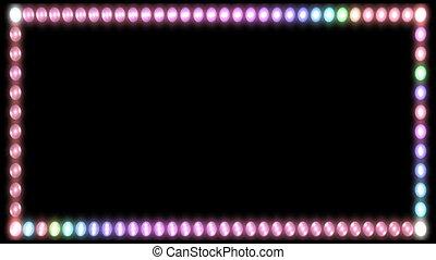 lumières, clignotant, cadre