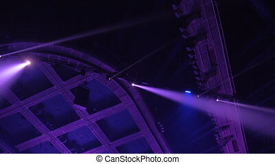 lumières, coloré, concert, projecteur