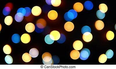 lumières, -, coloré, hd, clignotement