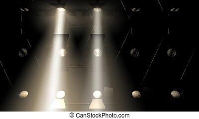 lumières, concert, inondation