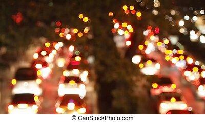 lumières, confiture, trafic, brouillé