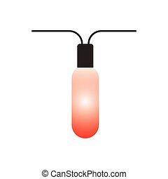 lumières décoratives, noël, icône