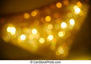 lumières, defocused, fond