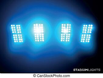 lumières, (floodlights), stade