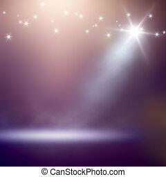 lumières, fond, étape
