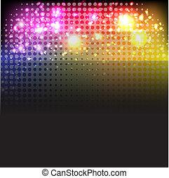 lumières, fond, clair, néon