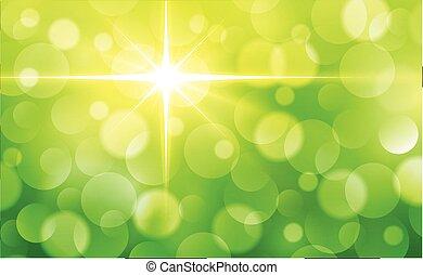 lumières, fond, vert