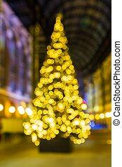 lumières, incandescent, arbre, noël