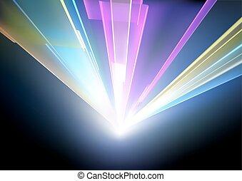lumières, laser, fond, disco