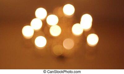lumières, lustre, foyer, flou
