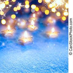 lumières, noël, art, fond