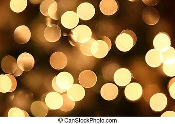 lumières, noël, brouillé