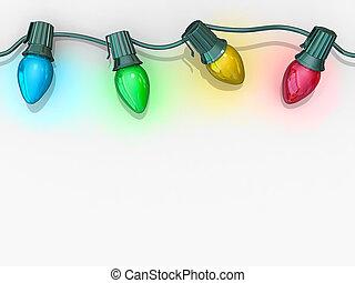 lumières, noël, ficelle