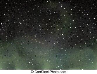 lumières, nord, univers