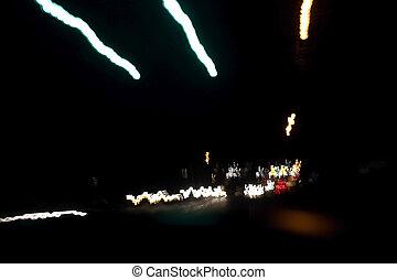 lumières, nuit