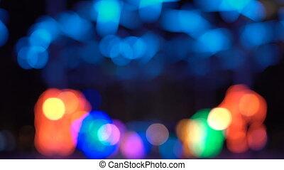 lumières, résumé, arbre, foyer, xmass