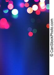 lumières, résumé, bokeh., fond