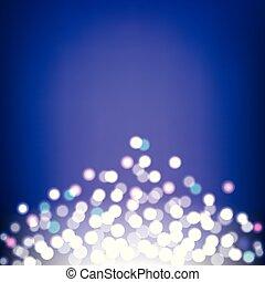 lumières, résumé, fond, bokeh, coloré