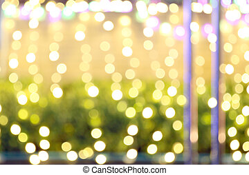 lumières, résumé, noël, arrière-plan.