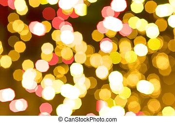 lumières, résumé, vacances, fond, scintillement