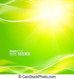 lumières, résumé, vert