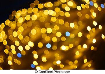 lumières, soir, ville