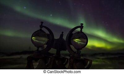 lumières, spitsbergen, nord, arctique