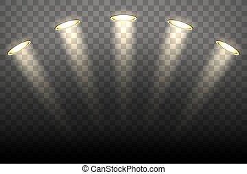 lumières, tache, transparent, fond