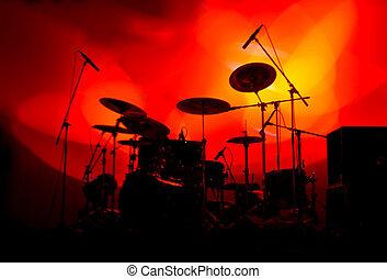 lumières, tambours