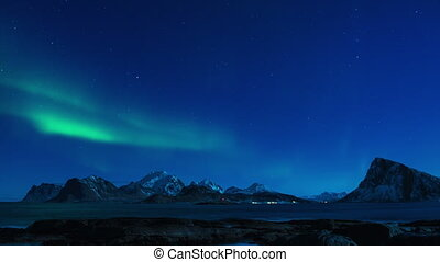 lumières, timelapse, nord