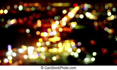 lumières, timelapse, trafic, loopable, brouillé