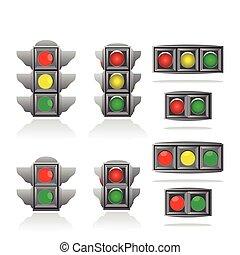 lumières, trafic
