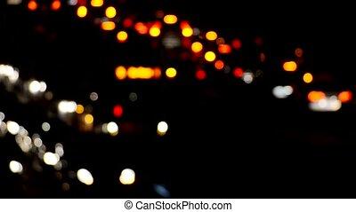 lumières, trafic, flou