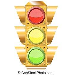 lumières, trafic route, croix