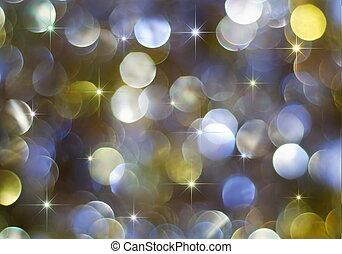 lumières, vacances, étoiles, multicolore