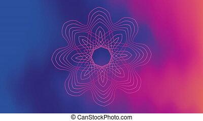 lumières, vif, floral, fond couleur, fluide