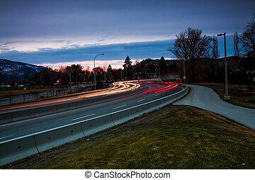lumières ville, soir