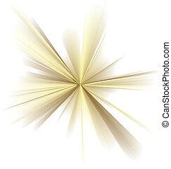 Luminescence - Abstract vector golden rays on white...
