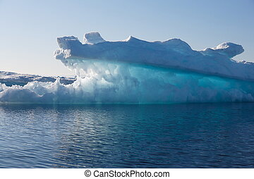 Luminescent iceberg in Greenland