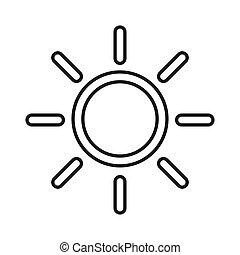 luminosità, simbolo, isolato, intensità, vettore, fondo, icon., bianco