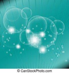 luminoso, astratto, luci blu, cerchio