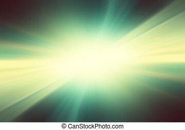 Nero Lampo Sfondo Verde